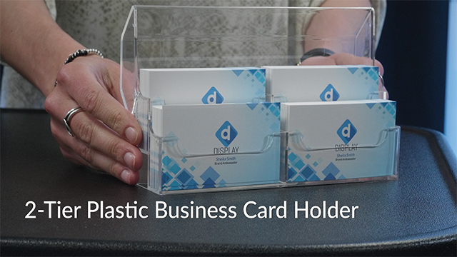 Product Intro: 2-Tier Countertop Covered Business Card Holder