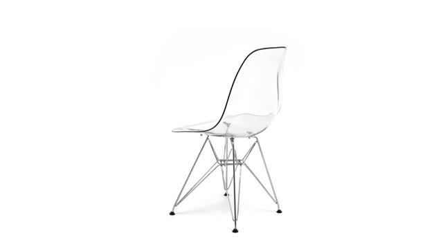 360 View: Plastic Eiffel Lounge Chair