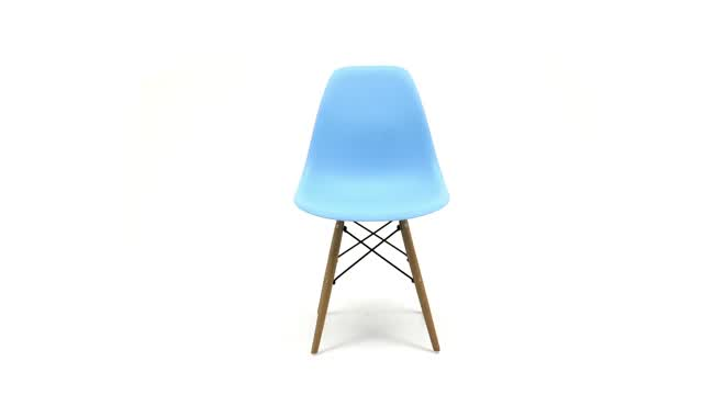 360 View: Molded Plastic Eames-style Chair