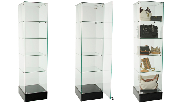 <p> Watch this glass tower display case come to life, thanks to two of our awesome product experts.  You can use this video as a guide while assembling your own retail case.</p>