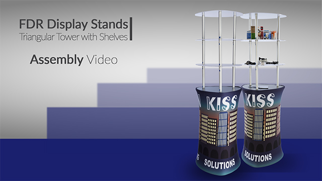 Exhibition Stand Assembly : Pop up display tower storage available in counter