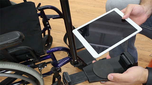 <p> This iPad wheelchair mount attaches right to a chair's frame. Watch as our skilled product experts assemble the bracket with ease! </p>