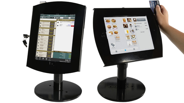 <p> See how you can assemble with iPad display stand with a locking enclosure and card reader! Watch as the tablet case tilts easily from portrait or landscape orientation.</p>