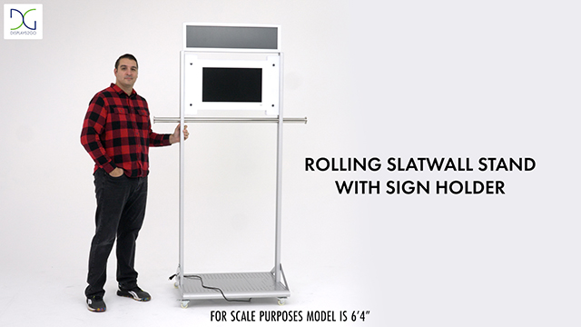 Mobile Garment Rack with Digital Sign