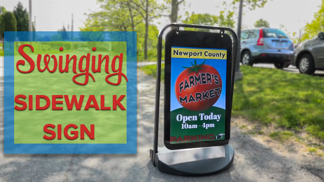 Feature Demo: PCK2030BK Swinging Pavement Sign
