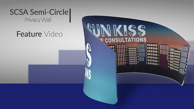 Feature Demo: Curved Exhibit Banner Stand