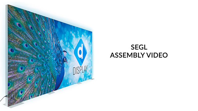 <p> Watch as our product experts demonstrate the assembly of this SEG backdrop wall. Creating a professional quality trade show backwall is quick and easy. Follow these 10 simple steps to light up your trade show booth. </p>