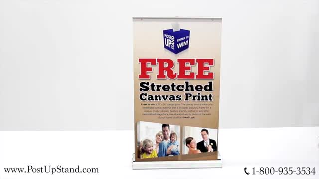 Table Top Banner Assembly from Post Up Stand