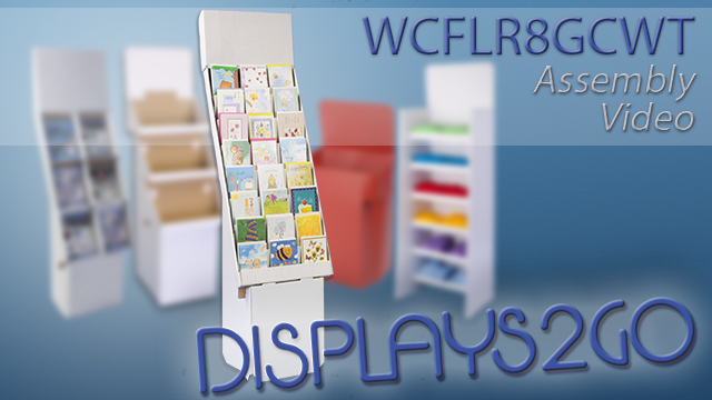 <p>With 8 shelves to add greeting cards or pamphlets, these corrugated POP displays can be a great addition to your business. The assembly is simple enough with pre-folded pieces for a fast setup. Watch this video to see how these units assemble and to give your store some cheap accessory solutions. </p>