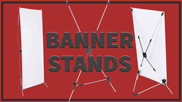 <p> These X banner stands are easier to assemble than you might think! All you have to do is adjust the X-shaped arms of the stand to size the your graphics, attach your banner's grommets to the stand's hooks, and - voila! - setup is complete! These X stands are extremely lightweight and portable, making them the perfect display tool for anyone on the go. Watch as Sarah, our resident product assembly expert, sets up this display in seconds. </p>