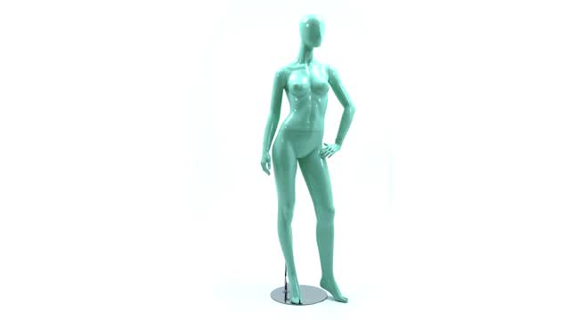 360 Video: Blue Faceless Mannequin