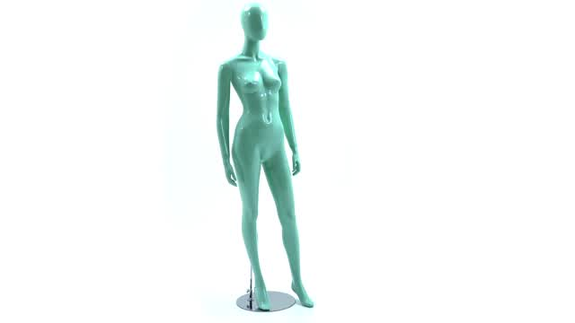 360 View: Blue Glossy Mannequin