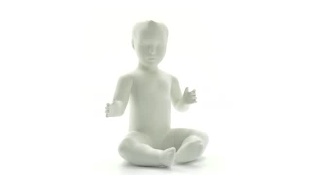 360 View: Sitting Baby Mannequin