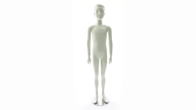 360 Video: Semi-Abstract Boy Mannequin
